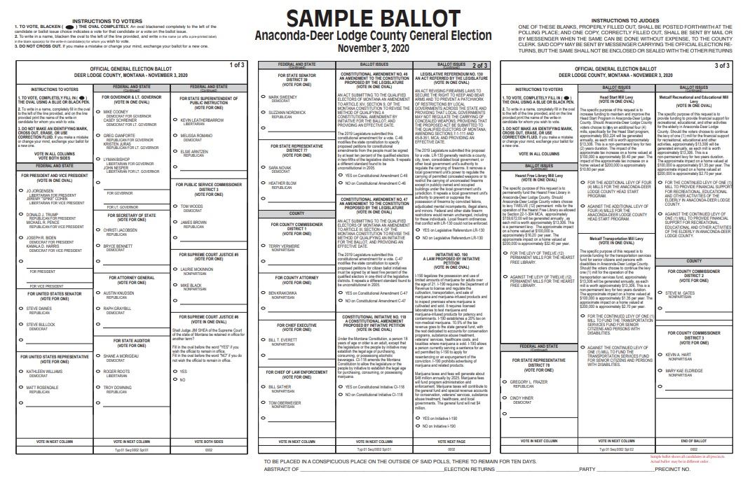 2020 General Sample Ballot